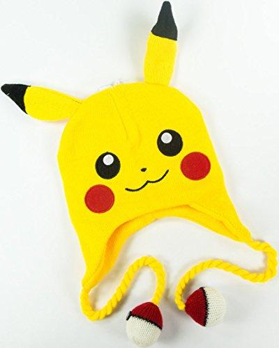 44b4d991474 Pokemon - Pikachu Big Face Laplander Beanie Size ONE SIZE - Import It All