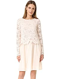 See by Chloe Womens Lace Long Sleeve Dress