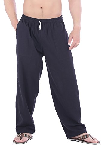 CandyHusky Mens Elastic Waist Casual Lounge Pajama Jogger Yoga Pants Cotton
