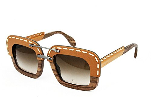 Sunglasses Prada PR 26RS UA76S1 NUT CANALETTO/BROWN LEATHER