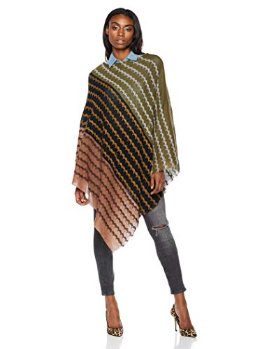BeautifulNomad Crochet Shawl Wrap Cape Poncho with Tassle for Women