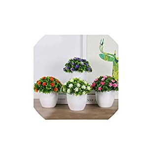Wild-World DECOR 1 pcs minitree Artificial Plant Bonsai Plastic vase Indoor and Outdoor Home Decoration Flowers Potted Creative Ornaments 28