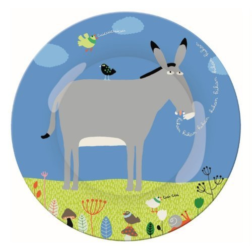 Ferme AF920D Small Dinner Plate with Donkey Motif by Ferme