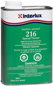 Interlux Boat Paint Special Thinner Solvent 216 Quart by Interlux