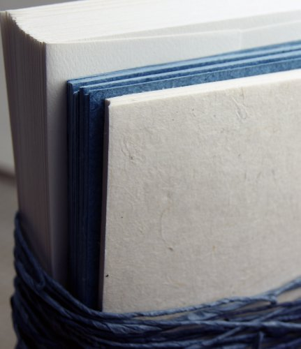 Seed Embedded Recycled Lotka Invitation Paper DIY Kit of 25 Rustic Blue