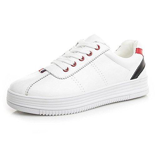 Fufu Chaussons De Sport Pour Femmes Comfort Spring Chaussures Marche À Pied Décontractées En Dentelle Extérieure Talon 3cm (taille : Eu37/uk4-4.5/cn37)