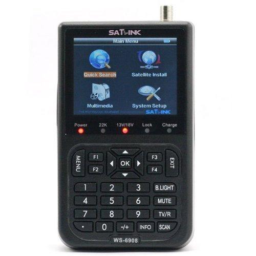 SATLINK WS-6908 3.5 Inch LCD DVB-S Digital Satellite Finder Satellite TV Receiver QPSK