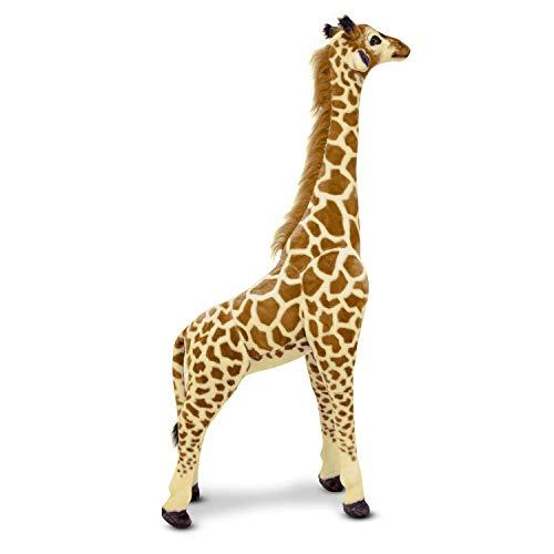 Melissa & Doug Giant Giraffe (Playspaces & Room Decor, Lifelike Stuffed Animal, Soft Fabric, Over 4 Feet Tall)