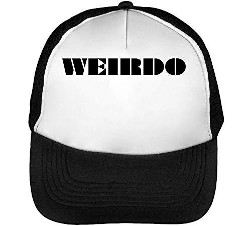 Weirdo Gorras Hombre Snapback Beisbol Negro Blanco