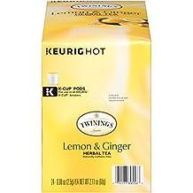 Twinings Lemon and Ginger Herbal Tea, 24 Count K-Cups