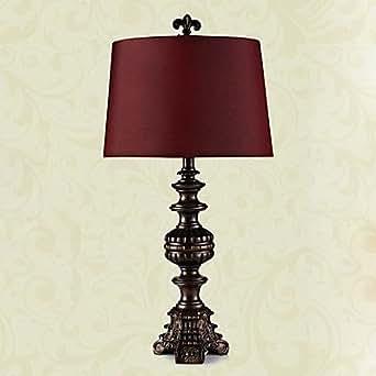 GDW lujo clásico Lámpara de mesa de estilo europeo en tono morado (de gran tamaño) 220-240v