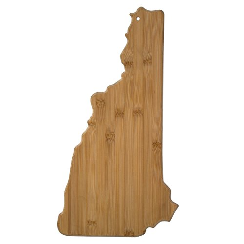 Totally Bamboo 20-7991NH New Hampshire State Shaped Bamboo Serving & Cutting Board,