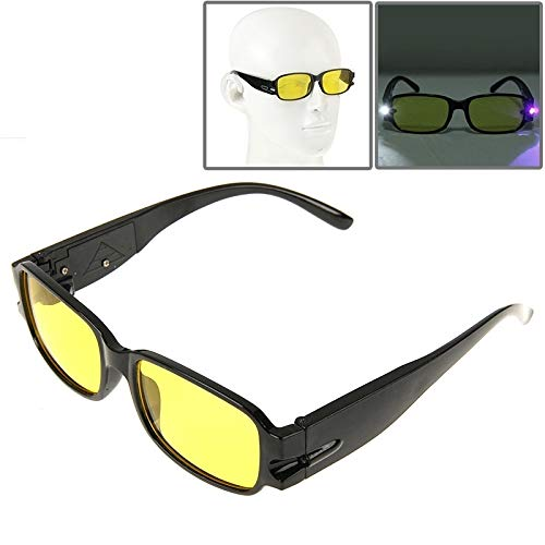 1052 Glasses - VAXT +1.00D, Manoeuvre UV Protection Yellow Resin Lens Reading Glasses with Currency Detecting Function (SKU : S-OG-1052G)
