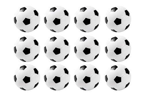 Set-of-12-Mini-Soccer-Foosball-Table-Replacements-36mm-Black-and-White-by-Juvale