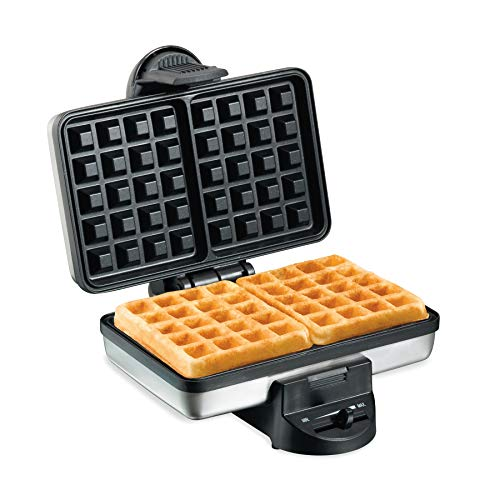 Hamilton Beach 26009 Nonstick Belgian Waffle Maker, Easy to Use, Clean and Store, Premium Stainless Steel