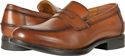 Florsheim Mens Midtown Moc Toe Penny Loafer Cognac Slip-On - 7.5 3E