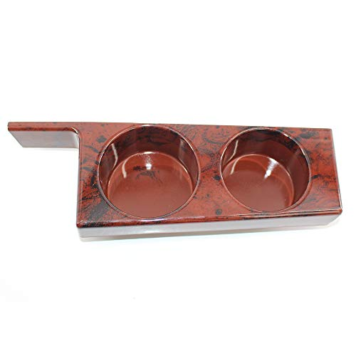 (Arotom Double Cup Holder Center Front Console Fits for BMW E39 525i 528i 530i 540i M5 Mahogany)