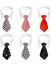 Dog Ties, 6 Pieces Segarty Adjustable Pets Dog Cat Bow Tie Pet Costume Necktie Collar for Small Dogs Puppy Grooming Accessories
