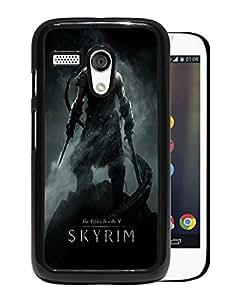 the elder scrolls v skyrim dragonborn warrior skyrim sword helmet Black New Customized Design Motorola Moto G Case