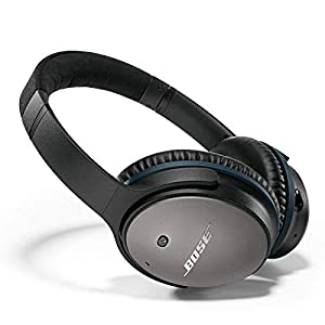 Bose QuietComfort 25 Acoustic Noise Cancelling Headphones for Apple devices – Black, Wired