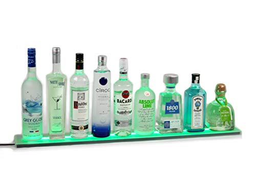 - Armana Productions 3' Wall Mount LED Bottle Shelf and Display with Wireless Remote Control, 36
