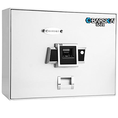 Barska Biometric Safe with Motorized Deadbolt Lock White AX12402