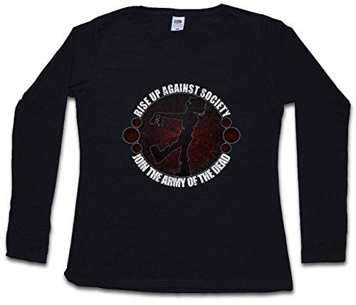 JOIN THE ARMY OF THE DEAD DAMEN GIRLIE LANGARM T-SHIRT - Walking Zombie Biters Dead Beißer Daryl Michonne Dixon Größen XS – 2XL