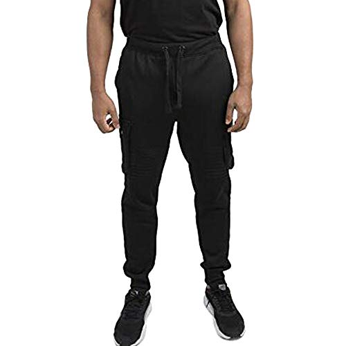Fashion Men's Sport Pocket Casual Solid Loose Sweatpants Trousers Jogger Pant,PASATO Clearance Sale(Black, 2XL) by PASATO