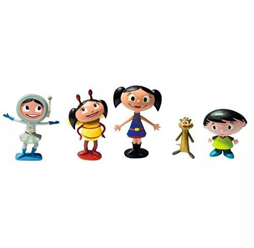 Show da Luna Conjunto de Personagens - 5 Mini Figuras O Brincando com a Turma da Luna