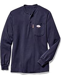 Rasco FR Navy Henley T-Shirt 100% Preshrunk Cotton NFPA 2112 Medium