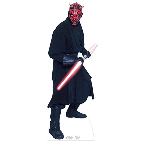 (Star Cutouts SC516 Official Star Wars Darth Maul Lifesize Cardboard Cutout)