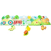 BabyPrice Baby Crib Bumper Gallery Animal Themed Cloth Book Babies Toys with Three Hanging Characters---Bpa-freeTeether, Music Voice and Rattles (Farm)