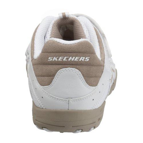 Skechers Sport Womens Intuition Zig Zag Kardborrband Sneaker Vit / Taupe