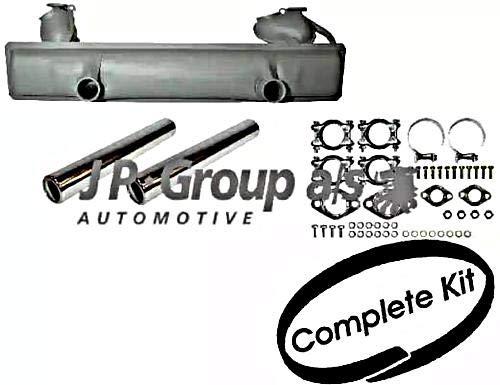 (JP Exhaust System Rear Full Set Fits VW Beetle Cabrio Kaefer 113251053AJ)