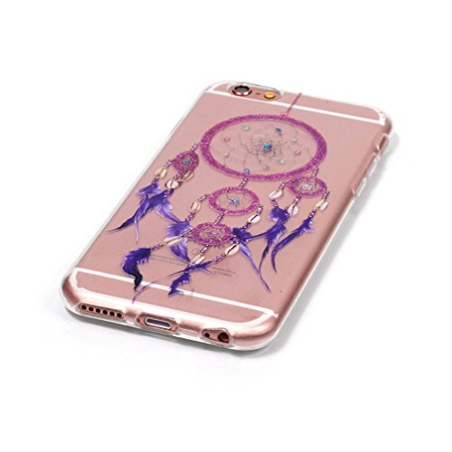 iPhone 6s plus Case, iPhone 6 plus Case, Ranrou case,Ranrou Soft TPU Silicone Clear Cases for iPhone 6 plus 6s plus -Campanula