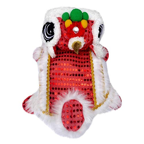 Chinese New Year Lion Dance Costumes - Yinrunx Dog Costume Lion Dance Costume,