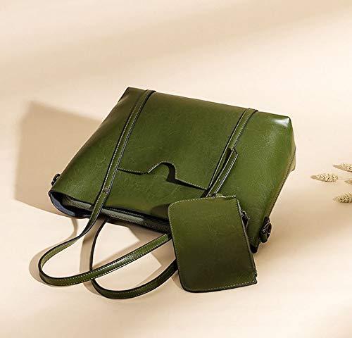 De De Vintage Vaca Bolso Diseño De Green Cuero KOKR Bolso De con Mensajero De Ajustable Bolso Hombro Red De Correa Hombro CvXq6