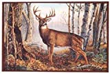 "Custom Printed Rugs Cr Whitetail Deer Rug Nylon 37""x52"" For Sale"