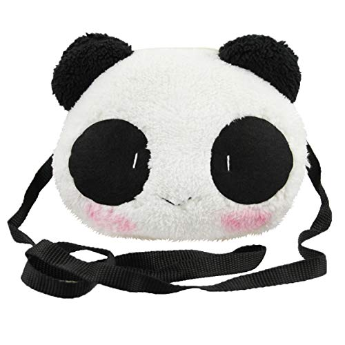 Little Girls Purse Cute Plush Panda Crossbody Travel Bag Cellphone Coins Wallet Bag Fashion Xmas Gift