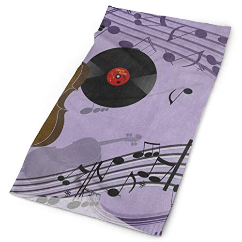 - Headband Dancing Music Note Guitar Purple Sports Headwear Outdoor Scarf Mask Neck Gaiter Head Wrap Sweatband