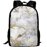 Travel Backpack Laptop Backpack Large Diaper Bag - Gold Marble Backpack School Backpack For Women & Men