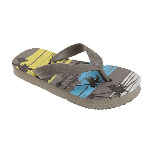 Jungen Palmen Muster Flip-Flops Grau