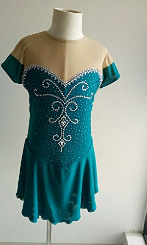 Custom Made Figure Skating Costumes (Fashion Custom Figure Skating Dresses Girls Ice Skating Competition Dresses With Crystals A2260)