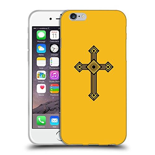 "GoGoMobile Coque de Protection TPU Silicone Case pour // Q08000602 Christian Cross 25 ambre // Apple iPhone 6 4.7"""