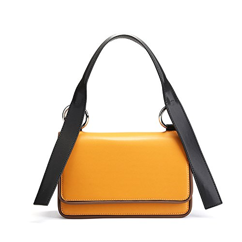 Bag Simple Buckle Yellow Magnetic Small Bag Square Retro Shoulder Leisure Messenger 4wUw8nrOqx