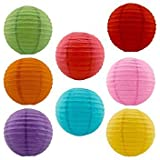 Balloonistics Round Paper Lanterns (Multicolour, 12 Inch)-Set of 3
