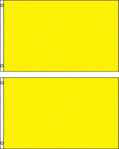 (2 pack lot) 2x3 Yellow Solid Plain Blank Color Flag 2'x3' Banner Grommets