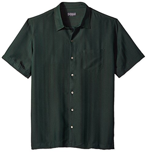 (Van Heusen Men's Poly Rayon Short Sleeve Button Down Shirt, Green Zucchini, XX-Large)