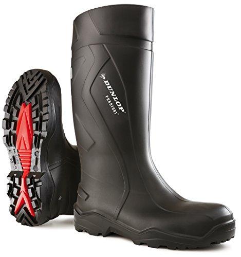 DunlopC762933 S5 PUROFORT+ - botas de goma sin forro con caña alta Unisex adulto negro