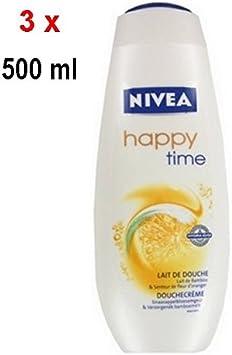 Pack de 3 geles de ducha de mujer Happy Time de Nivea, 500 ml ...